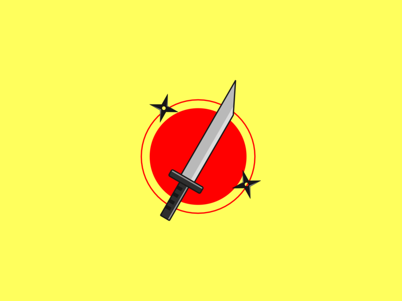 sword vector japanese art illustration design
