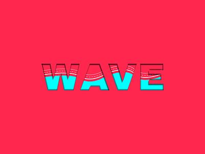 wave digital art vector illustration design