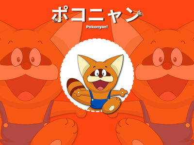pokonyan anime art anime vector illustration design