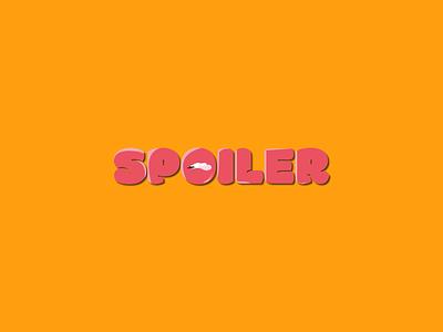 spoiler logo digital art branding flat vector indonesia illustration design