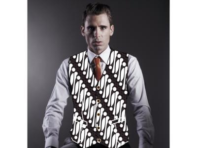 men with batik suit