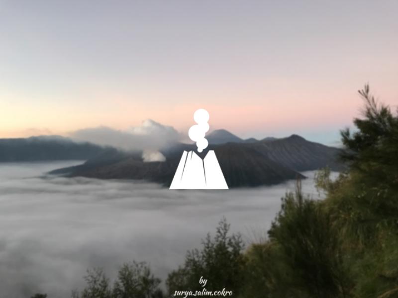Mount Bromo bromo wonderful indonesia design illustration dribbble vector icon logo art indonesia