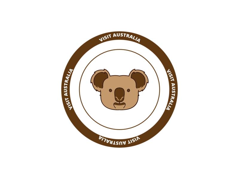 STAMP FOR AUSTRALIA stemp art flat icon logo cool editing digital art vector illustration design