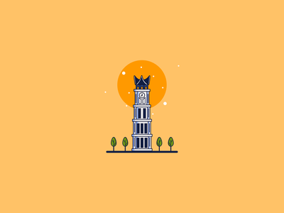 jam gadang art flat branding editing logo digital art indonesia illustration design vector