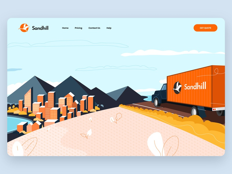 Sandhill illustration branding design illustrator illustration