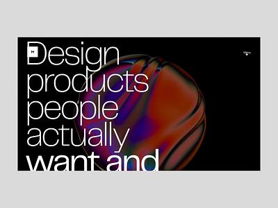 MSTQ design layout motion typography transition interface animation website