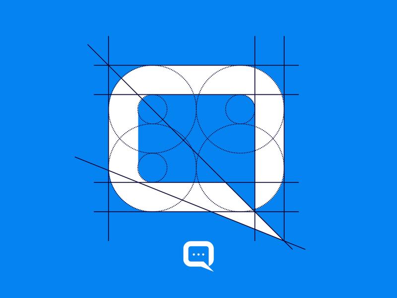 Q+Messenger Logo concept logodesigner logos brand identity branding icon design lettermark logodesign