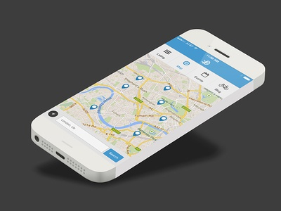 Cogfrog Mobile Google Map UI by Mario Vassiliades Dribbble