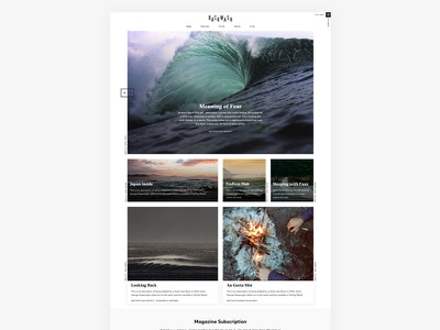 Backwash independent surf anthology grid ui magazine surf