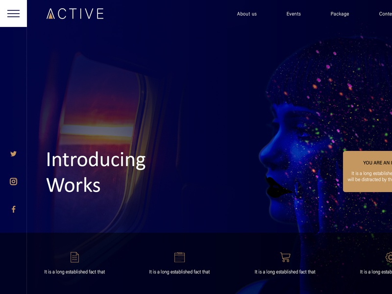 Creative landing page