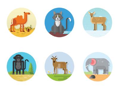 illustration geometric animal
