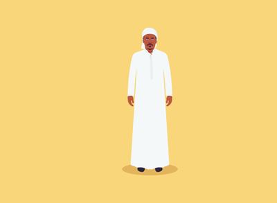 Local Arabic Boy Character