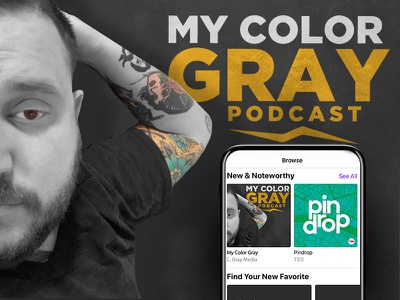 My Color Gray Podcast design logo branding business identity podcasting podcast logo podcast art podcast artwork podcast