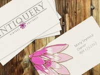 Vintiquery Logo Branding/Business Card