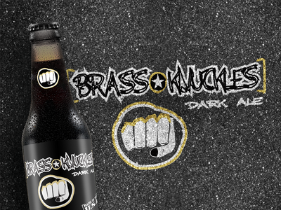 Brass Knuckles Brew Dark Ale brewery business brand identity design branding identity logo beer