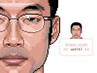 my first pixel portrait works