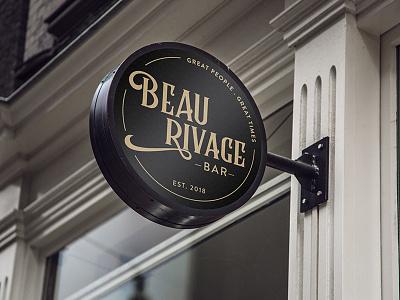 Beau Rivage Bar Logo dubai identity brand pub gastropub bar branding logo design