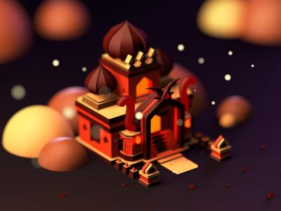 Castle - C4D game castle c4d