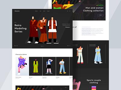Character design clothing web charachter design man women