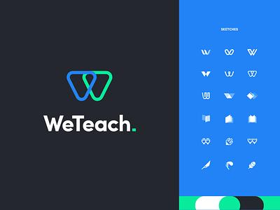weteach 品牌设计 启动图标 app education branding ui logo