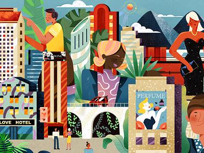 Modern city - 1 character vector branding cartoon charachter design work man design women illustration