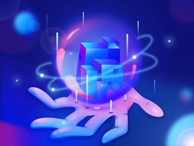 Encryption2 star earth world building charachter design work design hand illustration