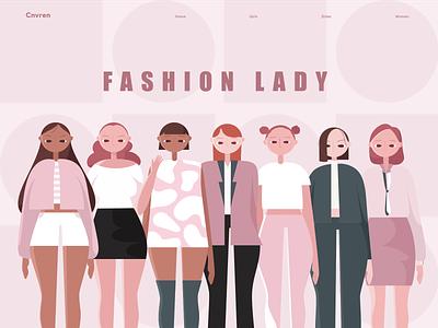 Fashion lady charachter design design women illustration