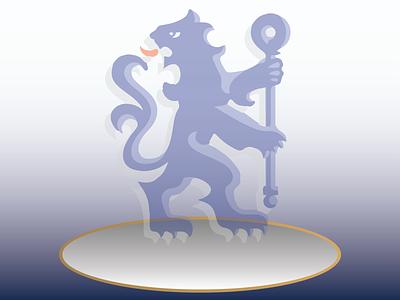 Chelsea Football Club logo branding illustrator graphic design flat vector illustration design