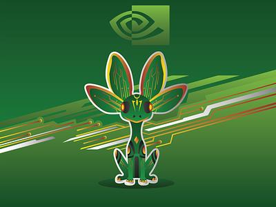 Mascot for Nvidia Studio Challenge branding logo illustrator graphic design flat vector illustration design