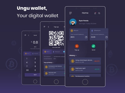 Ungu wallet app - User Interface & User Experience