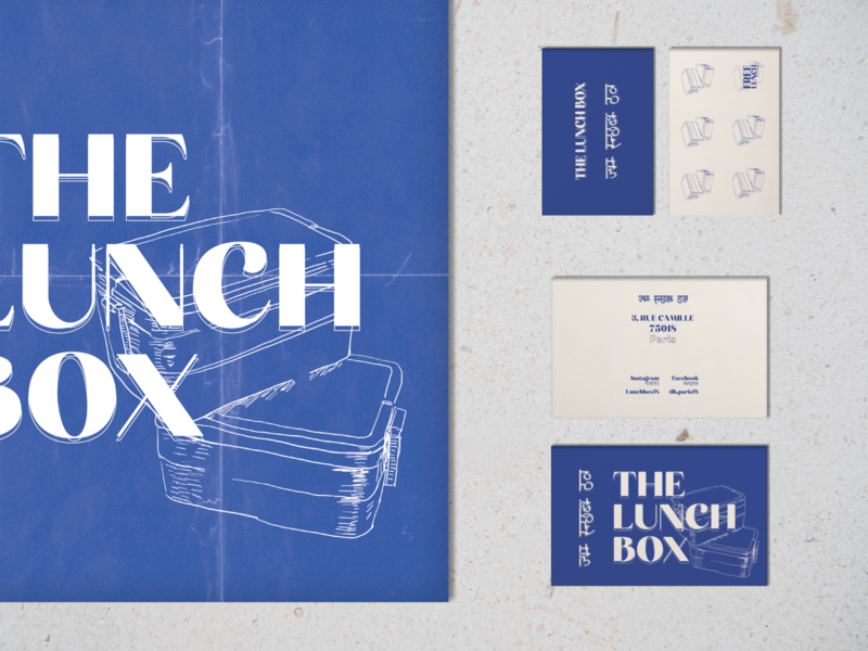 Branding project : The Lunch Box Restaurant menu businesscard flat art illustration print figma photoshop illustrator branding design