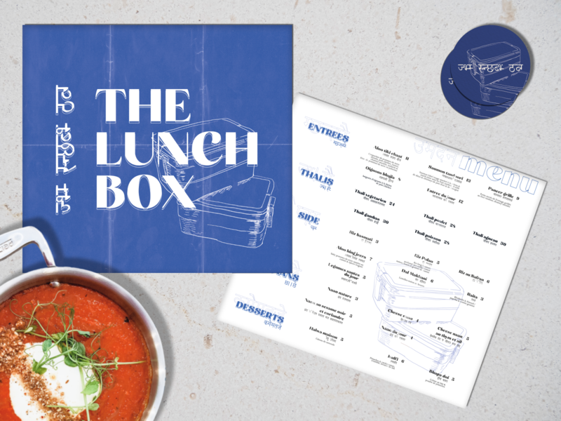 Branding project : The Lunch Box restaurant photoshop menu flat figma businesscard typography art illustrator illustration branding design