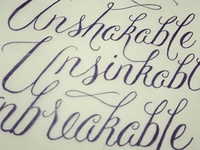 Lettering for Project Unbreakable