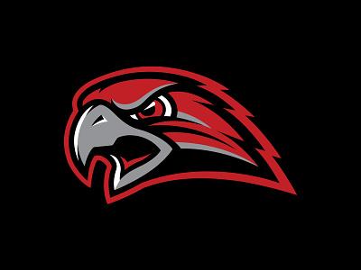 LV Red Wings Alternate Logo red eagle hawk bird illustration mascot logo hockey branding sports