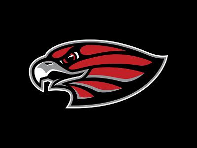 LV Red Wings Cut1 wings red eagle hawk bird illustration logo hockey branding sports