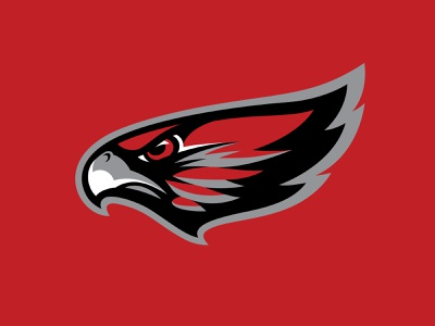 LV Red Wings Cut2 sports branding red hawk eagle wings bird nhl illustration logo hockey branding sports
