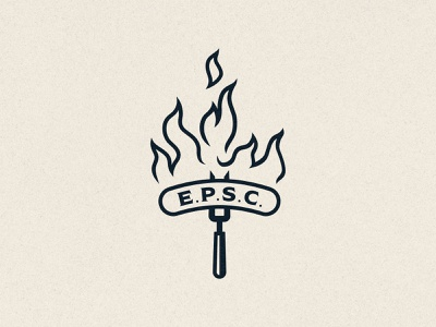 Elkins Pork Social Club 2 club social fancy luxury butcher design vector philadelphia fire flames fork food pork bbq illustration branding logo