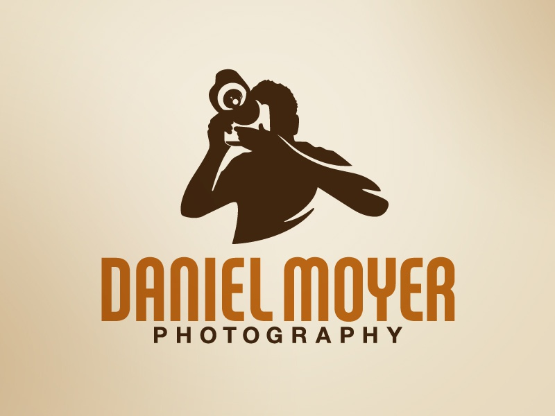 Daniel Moyer Photography photography logo portrait wedding photo photograph type small business brown branding paper