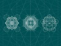 Standart Sacred Geometry geometric esoteric symbol alchemy spirituality religion illustration design background vector sacred geometry