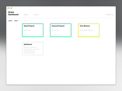 Drobo Dashboard Utility Mac App design ui ui  ux design utility mac app