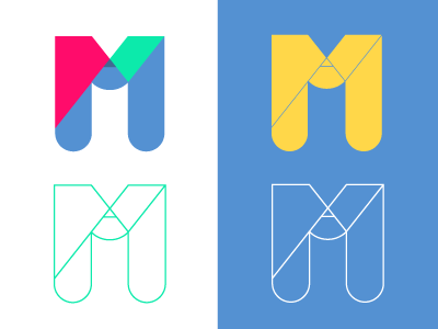 M as in Matsa: My personal logo logo monogram pencil letter logotype