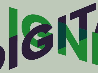 Logo concept logo overlay type perspective