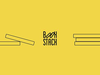 Bookstack Logo concept logo books stacked bookstack