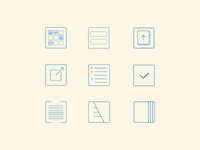 Email newsletter icon system
