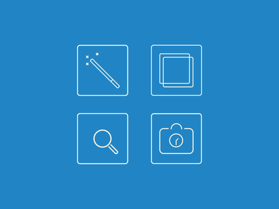 E-newsletter icons icons illustrator square rounded