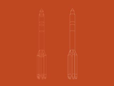 Space Rocket illustrator process space rocket