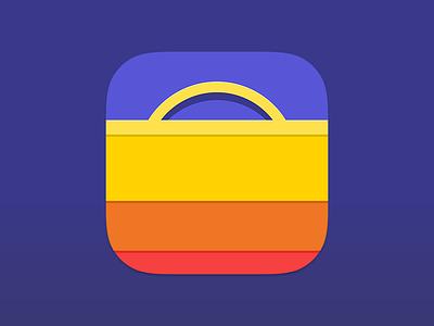 Markett app iOS icon groceries shopping bag bag icon ios