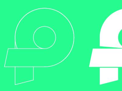 Ribbon Letter logo vector illustrator