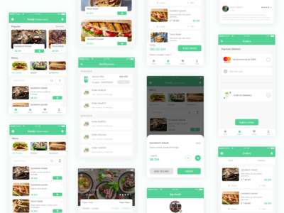Food delivery services App - Full UX UI Case study