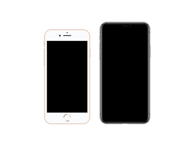 2017 iPhones Vectors commons creativecommons mockup smartphone svg iphone8 iphonex iphones iphone vector
